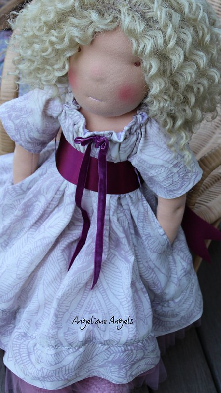 "Carrie, 22"" Waldorf-inspired doll by Angelique Angels"