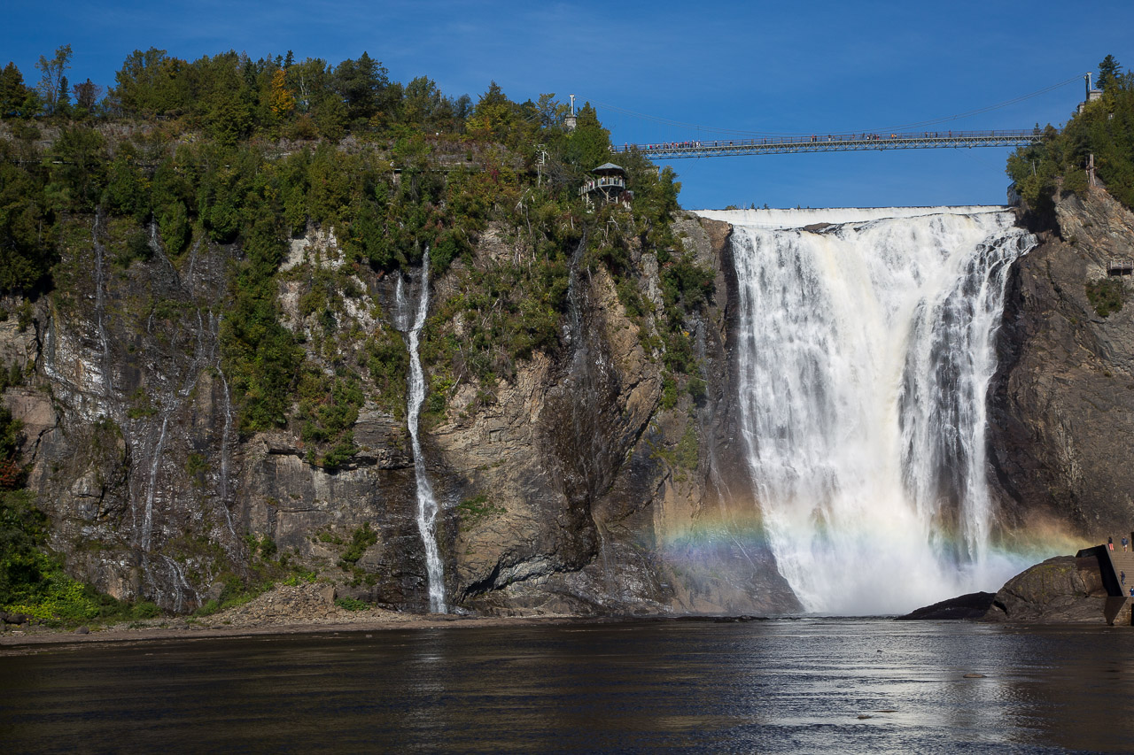 Boischatel (QC) Canada  City pictures : bridge canada waterfall rainbow quebec québec montmorency chute qc ...