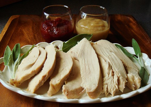 Slow Cooker Turkey Breast with Gravy and Spiced Port Cranberry Sauce