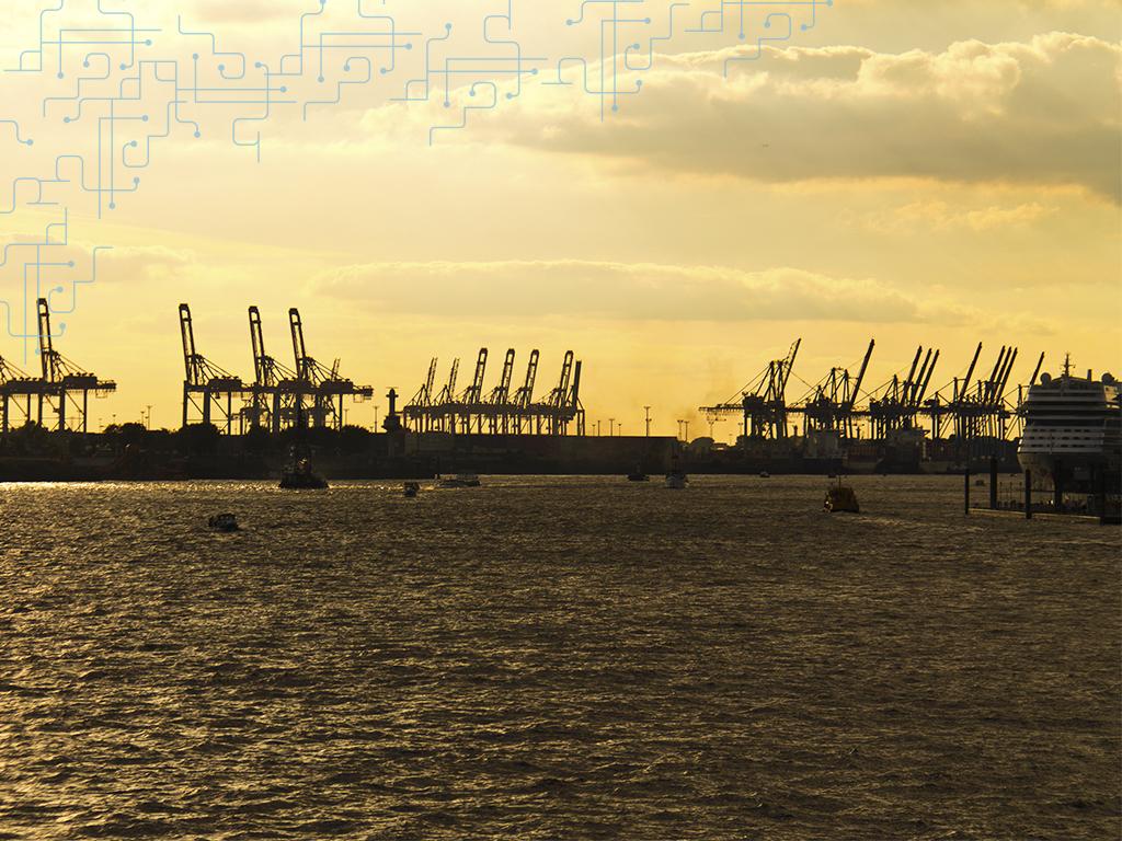Por do sol de Hamburgo