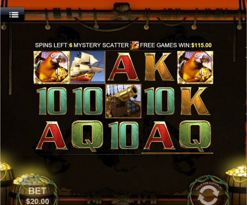 free Captain's Treasure Mobile slot free spins