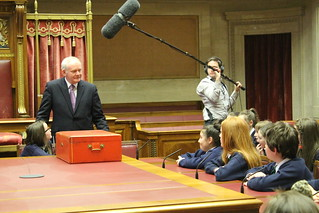 Martin McGuinness answering questions from pupils of St Patrick's Primary School.