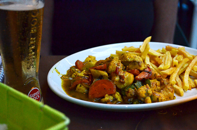 Curried chicken, Santa Maria, Sal, Cape Verde