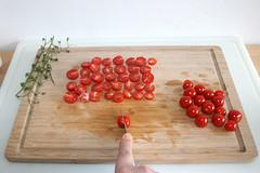 17 - Kirschtomaten halbieren / Cut cherry tomatoes…