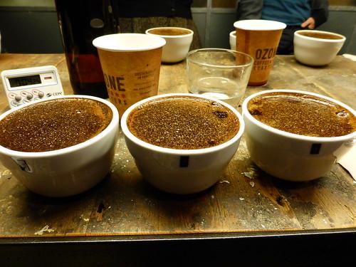 Coffee tasting at Ozone