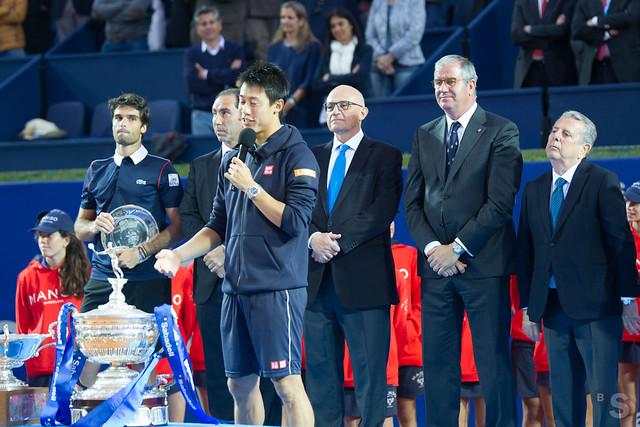 Entrega del trofeo Barcelona Open Banc Sabadell