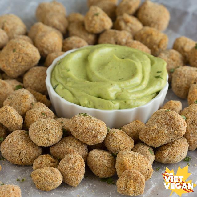Vegan Baked Soy Bites | The Viet Vegan | Crunchy, healthier alternatives to fried finger food. [ v e g a n ]