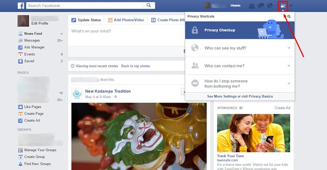 manage teen privacy settings