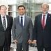 Achim Barchmann und Norbert Spinrath mit dem Außenminister von Nord-Zypern, Özdil Nami