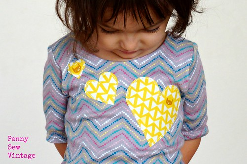 Applique Hearts Skola Dress