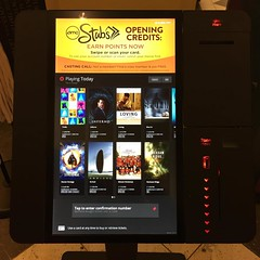 I hate to admit it, but these new movie kiosks are actually pretty cool and intuitive. #tech #ui #theendofassholecashiers