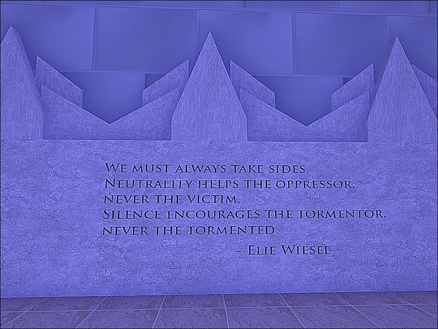 Holocaust Memorial Museum - Never Silence When You See A Wrong