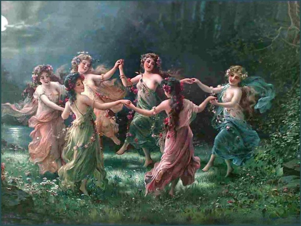 Fairy Dance by Hans Zatzka (1859 - 1945)