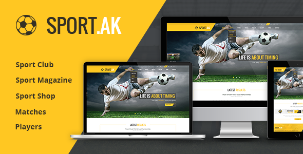 Sport.AK v1.0.4 - Soccer Club and Sport Joomla Template