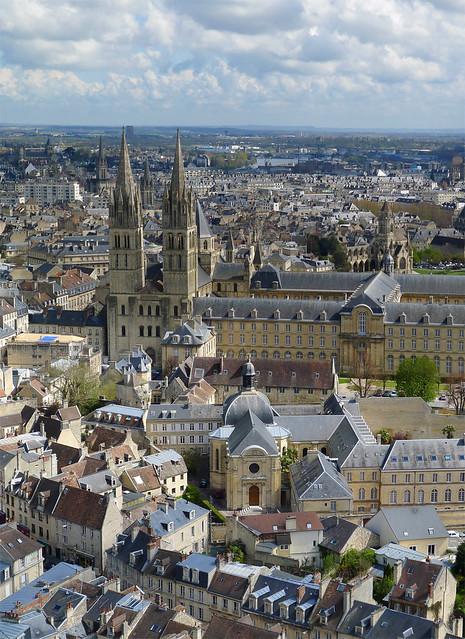 Les clochers de Caen (Calvados-FR)