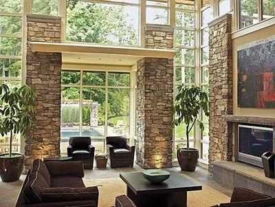 Consejos para resaltar las estructuras de piedra dentro de - Piedra decorativa para interiores ...
