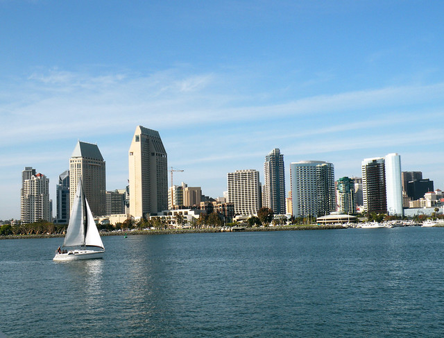 San Diego Bay from Coronado Ferry Area