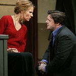 Pamela J. Gray as Anne and Nathan Lane as Butley in the Huntington Theatre Company's production of Simon Gray's