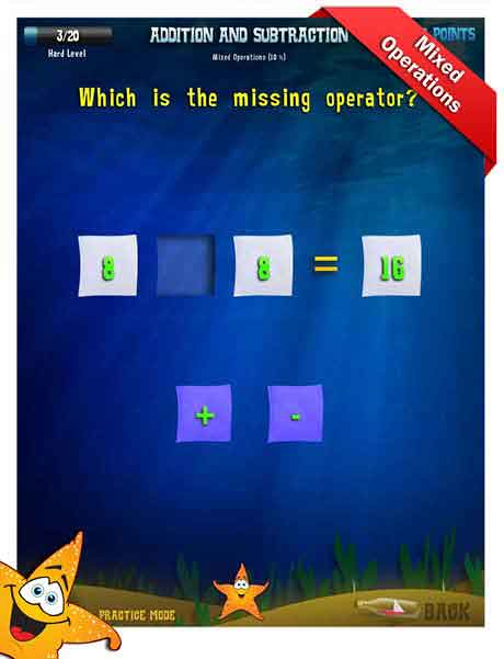 Grade 1 Math App - addition & subtraction