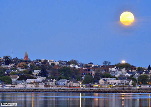 Supermoon over Munjoy Hill