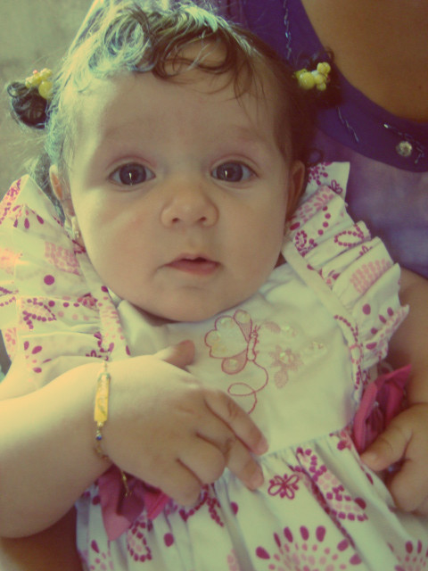 Lindona da tia!!! :D - Larissa com 5 meses