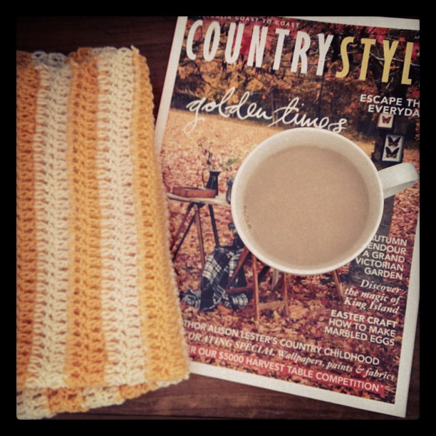 Country Style, Ricki-lee Jones, A cup of tea and a blanket waiting patiently to be finished..