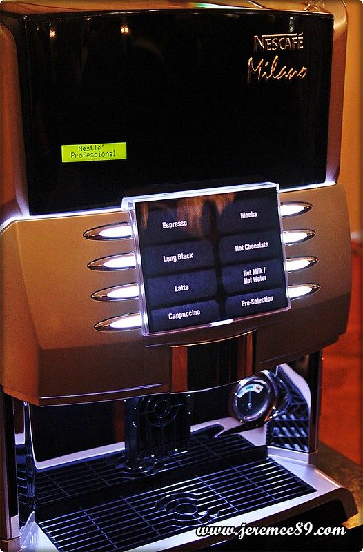 Nescafe Milano Launching @ E&O Hotel - Closer View Of Machine