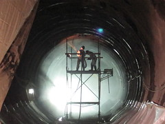 CM009 - Shooting Dry Shotcrete in Eastbound 2 Tunnel (04-23-2012)