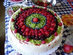 flower(0.0), produce(0.0), torte(0.0), cake(1.0), buttercream(1.0), baked goods(1.0), frutti di bosco(1.0), fruit cake(1.0), fruit(1.0), food(1.0), birthday cake(1.0), dessert(1.0), cuisine(1.0),