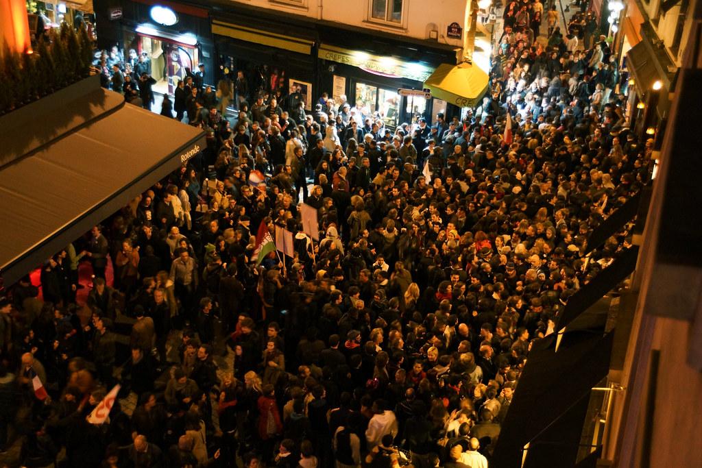 Paris-Election Day-near Place de la Bastille, 5-6-2012