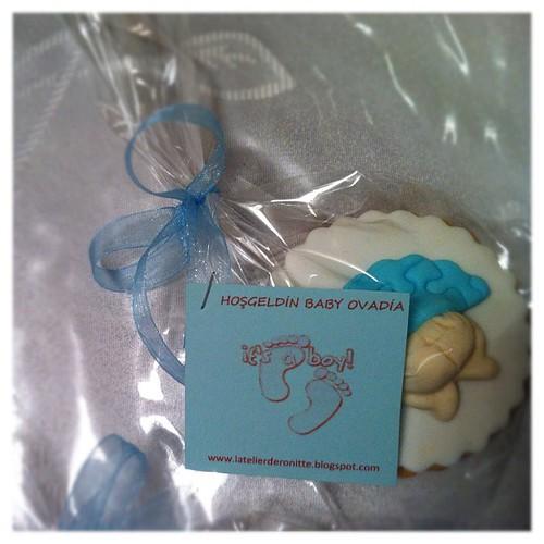 Erkek bebek doğum kurabiyeleri by l'atelier de ronitte