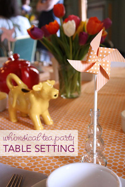 Whimsical Tea Party Table Setting