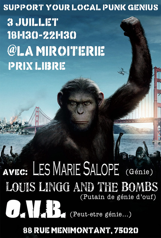 [03/07/12]Louis Lingg and the Bombs, Les Marie Salope @Paris 7418526408_55cec3f40c_c