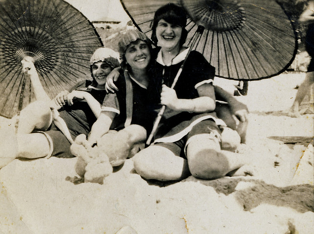 On Kirra beach 1924