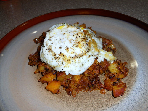 Chorizo Hash and Eggs