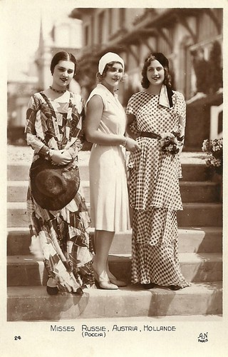 Miss Europe candidates 1930: the Misses Russia, Austria, and Holland