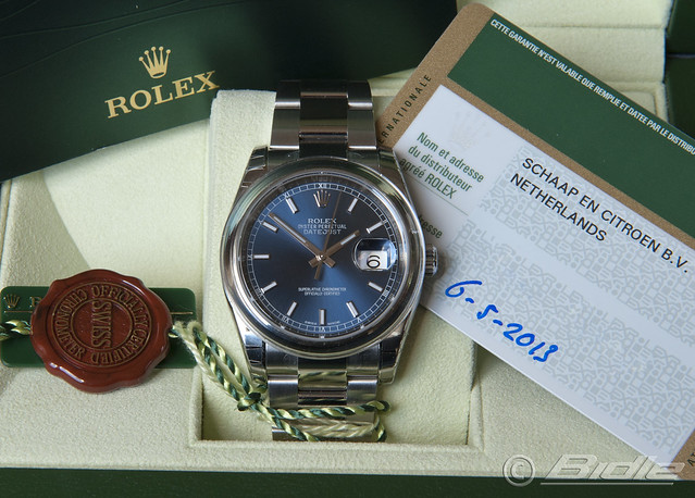 Rolex Datejust Blue dial 001