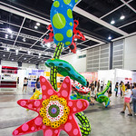 """Mixed Media Installation by Yayoi Kusama: Flowers that Bloom Tomorrow, 2012 (FRP, metal, paint)"" / Ota Fine Arts / Art Basel Hong Kong 2013 / SML.20130523.6D.13836"