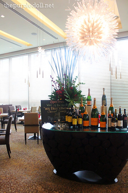 Display of Wines at Spectrum Fairmont Hotel