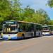 [Buses in Beijing]京华 Jinghua BK6160K2 BK6150K 北京公交集团 BPT #74424 #54669 Front-left at The Summer Palace Bus Stop