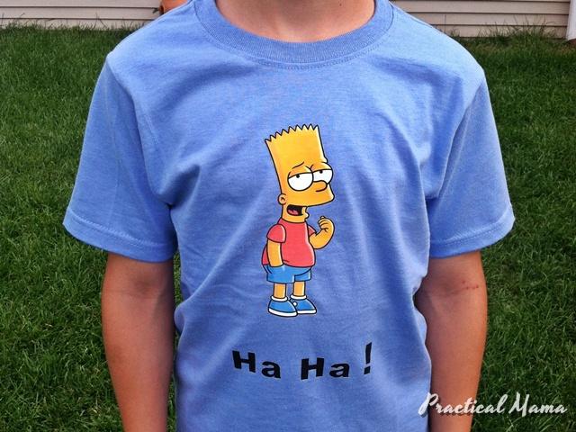 Iron on shirt design
