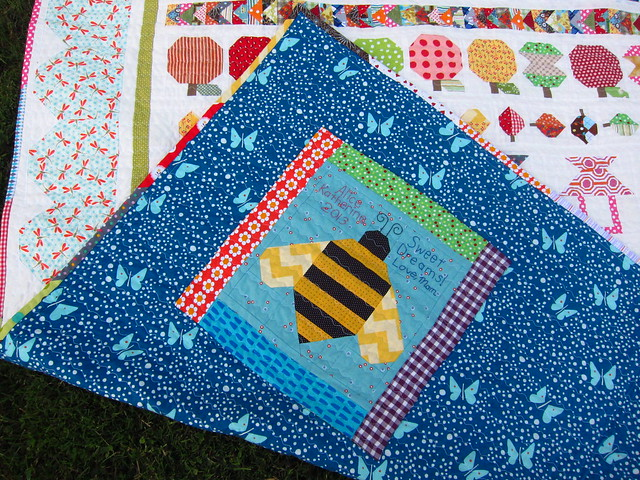 Insects! Dragonfly border, butterfly backing, and bee label