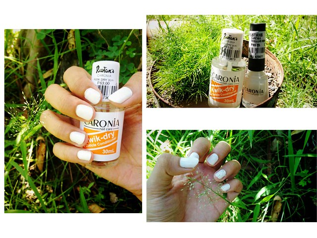 Caronia White Satin Nail Polish and Caronia Kwik Dry Review