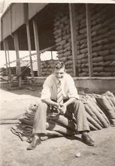 Tony Howard at the Calomba Wheat stacks-