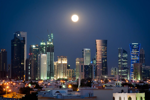 Supermoon over Doha