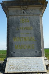 Closer view of memorial for Battle of Montmirail - Photo of Montolivet
