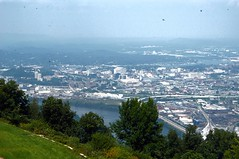 Downtown Chattanooga seen from Lookout Mountain