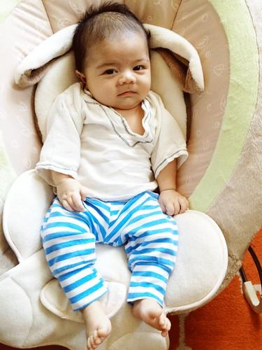 Luca_3months_stripedpants