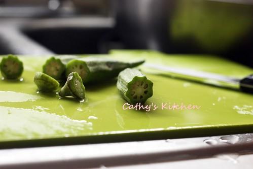 輕食的美味 - 咖哩烤秋葵 Baked Okra 5