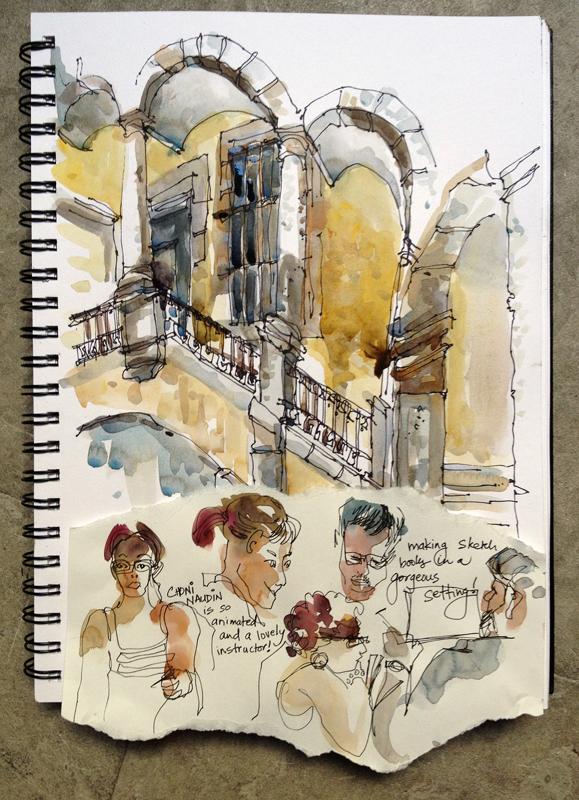 Inside Sant Lluc, Barcelona. Bookbinding demo